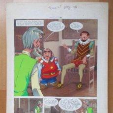 Cómics: DIBUJO ORIGINAL DON QUIJOTE DE LA MANCHA, PINTADO A MANO, VOL. 4 - PAG.110. Lote 86120068