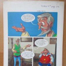 Cómics: DIBUJO ORIGINAL DON QUIJOTE DE LA MANCHA, PINTADO A MANO, 1973, VOL. 4 - PAG.113. Lote 86120176