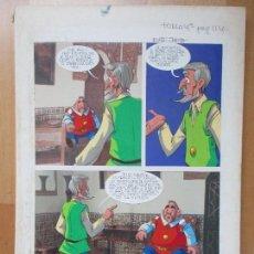 Cómics: DIBUJO ORIGINAL DON QUIJOTE DE LA MANCHA, PINTADO A MANO, 1973, VOL. 4 - PAG.114. Lote 86120216