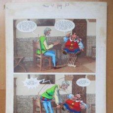 Cómics: DIBUJO ORIGINAL DON QUIJOTE DE LA MANCHA, PINTADO A MANO, VOL. 4 - PAG.117. Lote 86120368