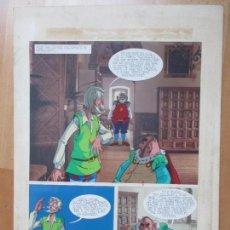 Cómics: DIBUJO ORIGINAL DON QUIJOTE DE LA MANCHA, PINTADO A MANO, VOL. 4 - PAG.120. Lote 86120568