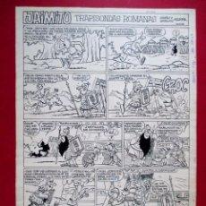 Cómics: DIBUJO ORIGINAL PLUMILLA , KARPA , JAIMITO , TRAPISONDAS ROMANAS , 1 HOJA - O11. Lote 86388720