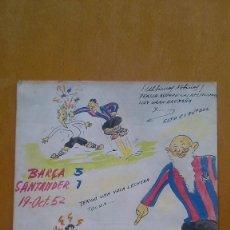 Cómics: VIÑETA HUMORÍSTICA DEL PARTIDO SANTANDER-BARÇA, 19-OCT-52 CON EL AVI DEL BARÇA, FIRMADO MADIEZ . Lote 86400988