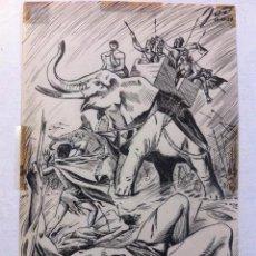 Cómics: DIBUJO ORIGINAL A TINTA 1954 FIRMADO - JAD JOSE ANTONIO DOMINGO (1934-2014) - 19X12 CMTS. Lote 86405316
