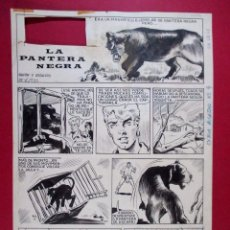 Cómics: DIBUJO ORIGINAL PLUMILLA , A. ELIAS, PANTERA NEGRA, EXTRA R. ALCÁZAR 9 - 4 HOJAS - O11. Lote 86576672