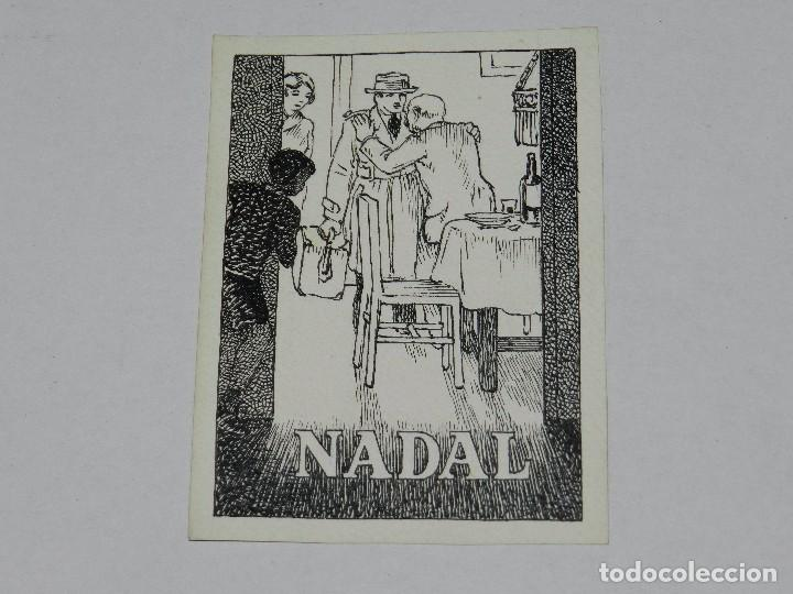 (U10) DIBUJO ORIGINAL DE MANUEL URDA , FELICITACION DE NAVIDAD, NADAL , 13 X 9'5 CM, BUEN ESTADO (Tebeos y Comics - Art Comic)