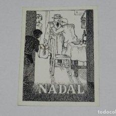Cómics: (U10) DIBUJO ORIGINAL DE MANUEL URDA , FELICITACION DE NAVIDAD, NADAL , 13 X 9'5 CM, BUEN ESTADO. Lote 87416680