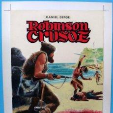 Cómics: DIBUJO ORIGINAL COLOR, JOSE LUIS , ROBINSON CRUSOE , CLASICOS ILUSTRADOS Nº 3 , L. Lote 87653884