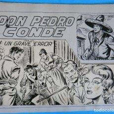 Cómics: DIBUJO ORIGINAL PLUMILLA, MANUEL GAGO, PEDRO CONDE Nº 9 ,UN GRAVE ERROR , PORTADA + 10 HOJAS , L. Lote 87664928