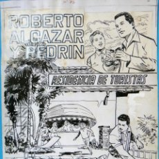 Cómics: DIBUJO ORIGINAL PLUMILLA, PORTADA ROBERTO ALCAZAR Y PEDRIN EXTRA Nº 75 , 1 HOJA , L. Lote 87666356