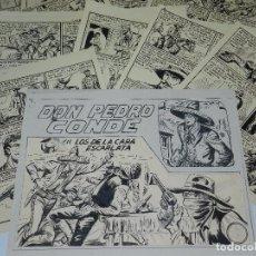 Cómics: CUADERNO ORIGINAL DE MANUEL GAGO - DON PEDRO CONDE NUM 3 , PORTADA + 10 PAG.. Lote 87719416