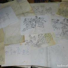 Cómics: (MUNT) LOTE DE 13 DIBUJOS DE MUNTAÑOLA , DIFERENTES TAMAÑOS , VER FOTOGRAFIAS ADICIONALES. Lote 87836840