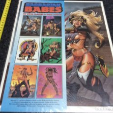 Cómics: PORTAFOLIO, BARBARIAN BABES / BY STEVE FASTNER & RICH LARSON, ( 6 LAMINAS A COLOR ) 36X28 CM..... Lote 40114469