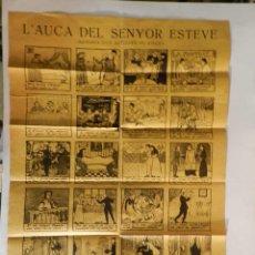 Cómics: L'AUCA SENYOR ESTEVE .- SANTIAGO RUSIÑOL RAMON CASAS GABRIEL ALOMAR GRANDE DINA 2 AUTENTICA AÑOS 20. Lote 89123140