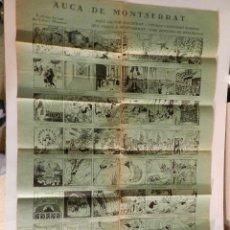Cómics: EXTRAORDINARIA AUCA DE MONTSERRAT - ILUSTRACIONES JOAN JUNCEDA ORIGINAL AÑO 1923. Lote 89130832