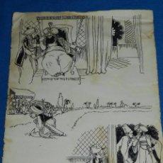 Cómics: DIBUJO ORIGINAL DE MALLOL - 28 X 21'5 CM, SEÑALES DE USO. Lote 89286916
