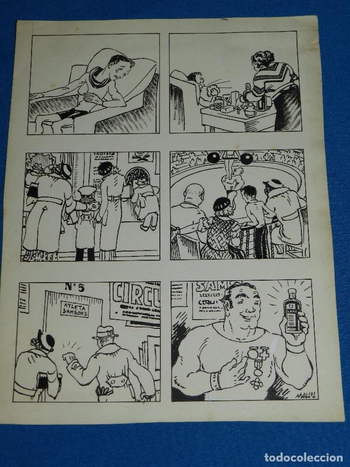 DIBUJO ORIGINAL DE MALLOL PUBLICITARIO LASA - 26'5 X 20 CM, BUEN ESTADO (Tebeos y Comics - Art Comic)