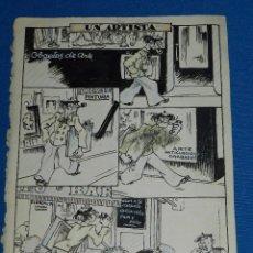 Cómics: DIBUJO ORIGINAL DE MALLOL - UN ARTISTA , 26'5 X 19'5 CM, SEÑALES DE USO. Lote 89287352