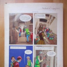 Cómics: DIBUJO ORIGINAL DON QUIJOTE DE LA MANCHA, PINTADO A MANO, FONDO FOTOGRAFIA, TOMO 4 - PAG.121. Lote 89598984