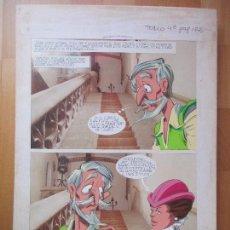 Cómics: DIBUJO ORIGINAL DON QUIJOTE DE LA MANCHA, PINTADO A MANO, FONDO FOTOGRAFIA, TOMO 4 - PAG.122. Lote 89599088