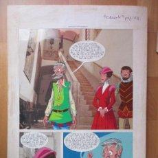 Cómics: DIBUJO ORIGINAL DON QUIJOTE DE LA MANCHA, PINTADO A MANO, FONDO FOTOGRAFIA, TOMO 4 - PAG.123. Lote 89599352