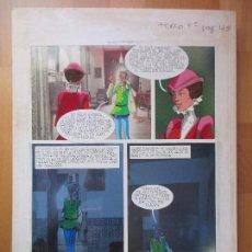 Cómics: DIBUJO ORIGINAL DON QUIJOTE DE LA MANCHA, PINTADO A MANO, FONDO FOTOGRAFIA, TOMO 4 - PAG.125. Lote 89599456