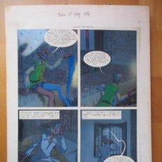 Cómics: DIBUJO ORIGINAL DON QUIJOTE DE LA MANCHA, PINTADO A MANO, FONDO FOTOGRAFIA, TOMO 4 - PAG.126. Lote 89599524