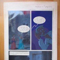 Cómics: DIBUJO ORIGINAL DON QUIJOTE DE LA MANCHA, PINTADO A MANO, FONDO FOTOGRAFIA, TOMO 4 - PAG.127. Lote 89599556