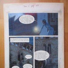 Cómics: DIBUJO ORIGINAL DON QUIJOTE DE LA MANCHA, PINTADO A MANO, FONDO FOTOGRAFIA, TOMO 4 - PAG.128. Lote 89599624