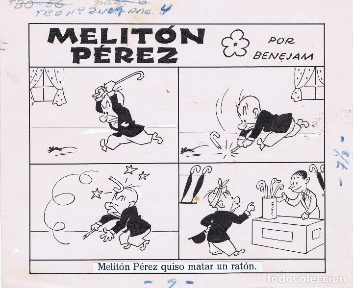 ORIGINAL DEL TBO DE MARINO BENEJAM 1 (Tebeos y Comics - Comics - Art Comic)