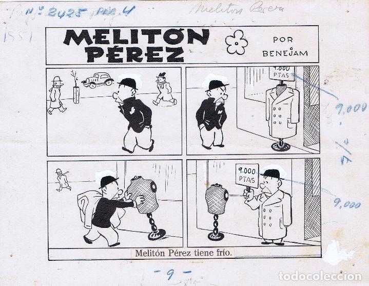 ORIGINAL DEL TBO DE MARINO BENEJAM 2 (Tebeos y Comics - Comics - Art Comic)