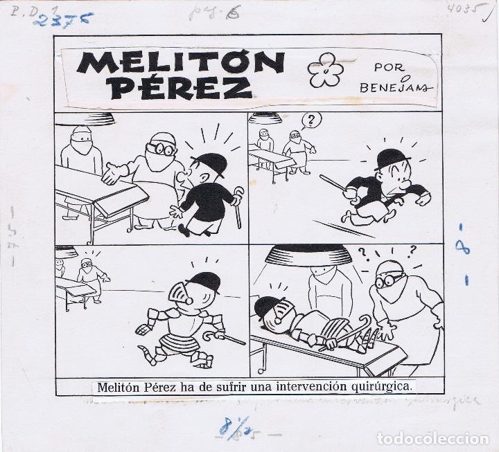 ORIGINAL DEL TBO DE MARINO BENEJAM 3 (Tebeos y Comics - Comics - Art Comic)