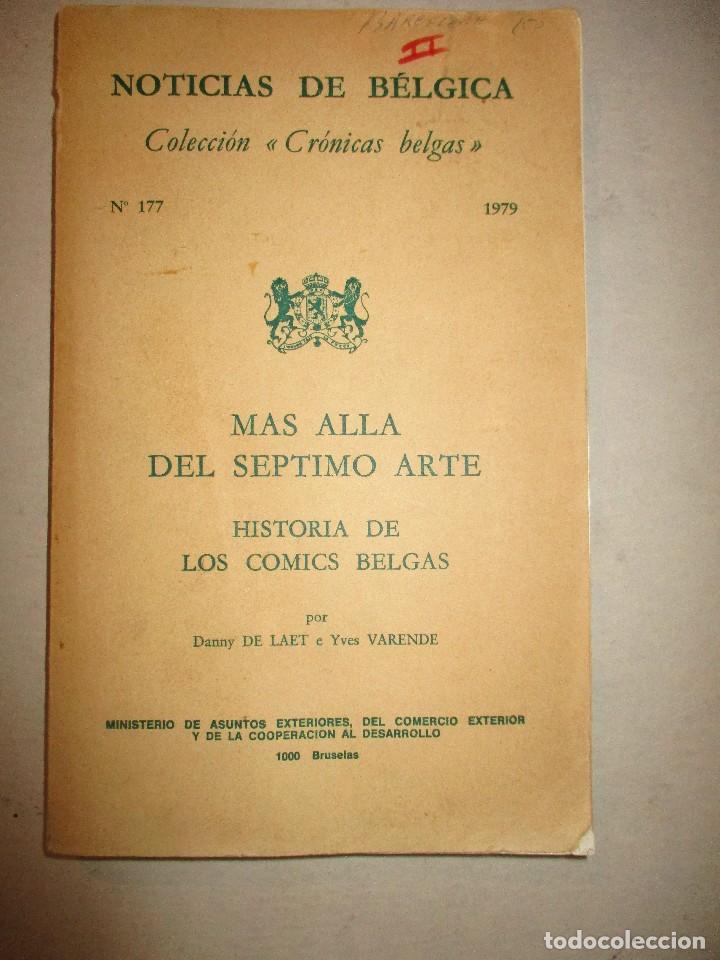 Cómics: MAS ALLA DEL SEPTIMO ARTE-HISTORIA DE LOS COMICS BELGAS-301 PAGS-1979 - Foto 3 - 90554285