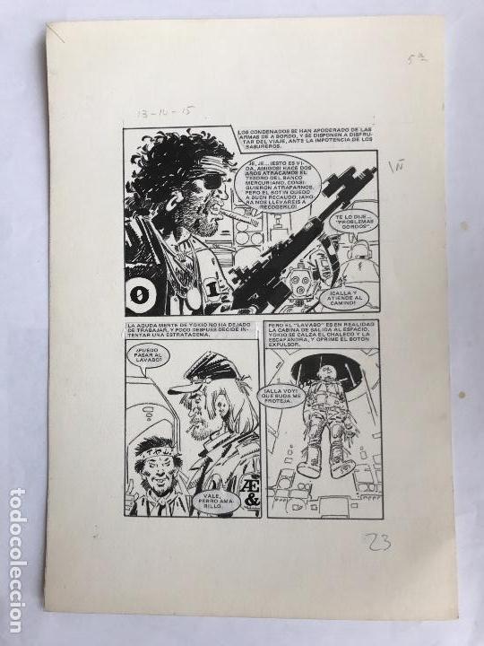 DIBUJO A TINTA DE JOSÉ DUARTE, ILUSTRACIÓN CÓMIC. (Tebeos y Comics - Art Comic)