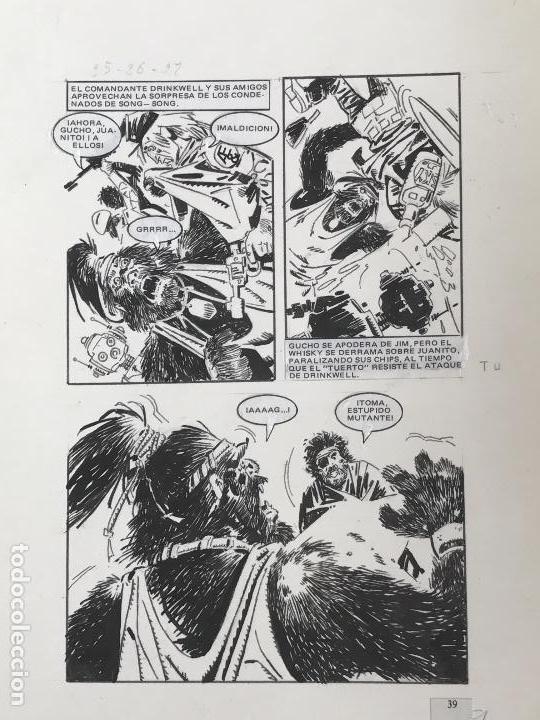 Cómics: DIBUJO A TINTA DE JOSÉ DUARTE, ILUSTRACIÓN CÓMIC. - Foto 2 - 90958695