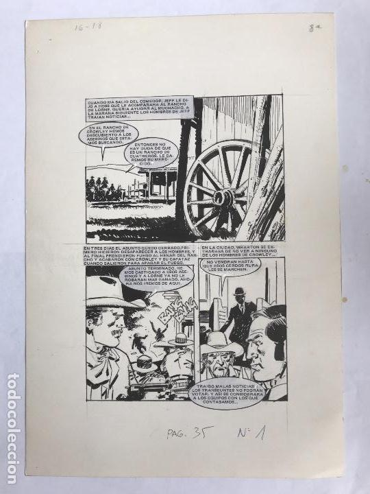 DIBUJO A TINTA PARA ILUSTRACIÓN CÓMIC. DESCONOZCO AUTOR. (Tebeos y Comics - Art Comic)
