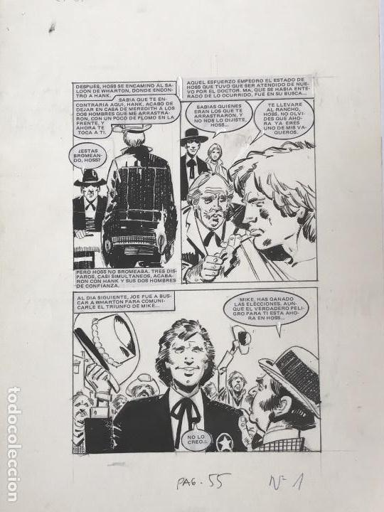 DIBUJO A TINTA DE JOSÉ DUARTE , ILUSTRACIÓN CÓMIC. (Tebeos y Comics - Art Comic)