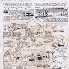 Cómics: ORIGINAL DEL TBO BENEJAM VACACIONES DOMINICALES. Lote 91231665