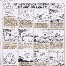 Cómics: ORIGINAL DEL TBO BENEJAM ORIGEN DE LOS INCENDIOS. Lote 91232215