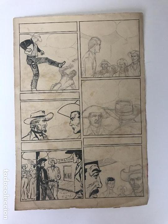 DIBUJO A TINTA Y LÁPIZ DE JOSÉ DUARTE, BOCETO PARA CÓMIC. (Tebeos y Comics - Art Comic)