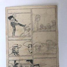 Cómics: DIBUJO A TINTA Y LÁPIZ DE JOSÉ DUARTE, BOCETO PARA CÓMIC.. Lote 91278490