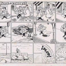 Cómics: ORIGINAL DE ARTURO MORENO TARDE DE COMPRAS. Lote 91537330