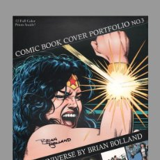 Cómics: COMIC BOOK COVER PORTAFOLIO Nº 3 THE DC UNIVERSE BY BRIAN BOLLAND LIMITED EDITION OF 1000. Lote 93103425
