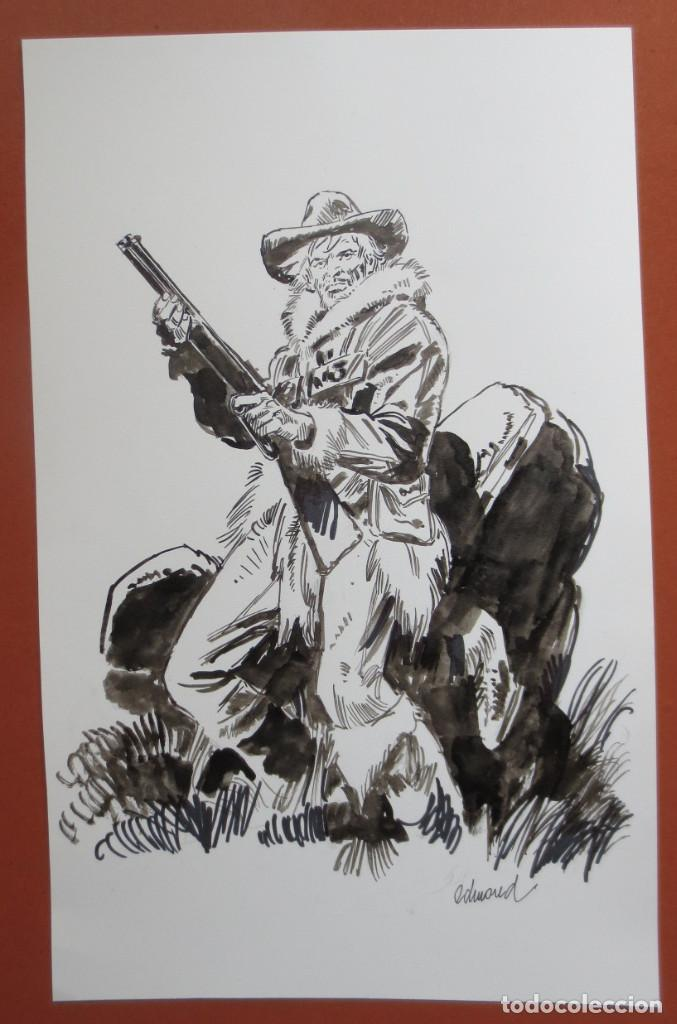 DIBUJO ORIGINAL OESTE WEST DE EDMOND (Tebeos y Comics - Comics - Art Comic)