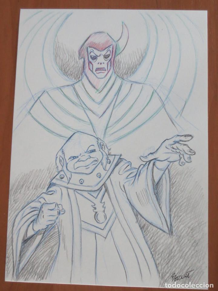 DIBUJO ORIGINAL AMO DEL CALABOZO VENGER (Tebeos y Comics - Comics - Art Comic)