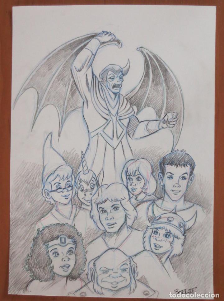 DIBUJO ORIGINAL AMO DEL CALABOZO VENGER DRAGONES Y MAZMORRAS (Tebeos y Comics - Comics - Art Comic)