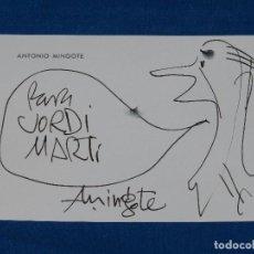 DIBUJO ORIGINAL DE ANTONIO MINGOTE , 16 X 11 CM, BUEN ESTADO