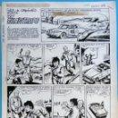 Cómics: DIBUJO ORIGINAL PLUMILLA, FORJA DE CAMPEONES , UN FILANTROPO , 4 HOJAS O PLANCHAS , M. Lote 93941345