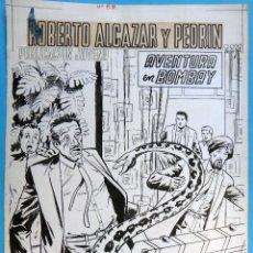 Cómics: DIBUJO ORIGINAL PLUMILLA, ROBERTO ALCAZAR Y PEDRIN EXTRA Nº 57 , PORTADA 1 HOJA O PLANCHA , M. Lote 93941855