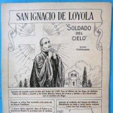 Cómics: DIBUJO ORIGINAL PLUMILLA , PERTEGAS , SAN INGNACIO DE LOYOLA , SOLDADO DEL CIELO , 32 HOJAS ,M. Lote 94165020